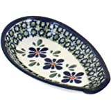 Polish Pottery Mosaic Flower Small Spoon Rest
