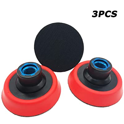 "Aispor 3PCS 3 Inch Hook and Loop Backing Plate 5/8""-11 Thread Sanding Backing Pads for Rotary Polisher and Sander: Automotive"