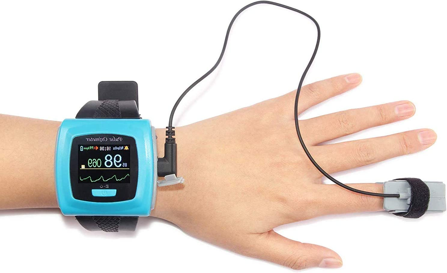 Contec CMS50F Wrist-worn Pulse Oximeter with Software and Download Cable