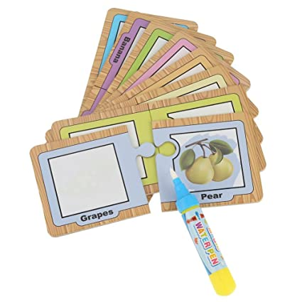 Baby Kids Water Drawing Painting Card Board With Pen