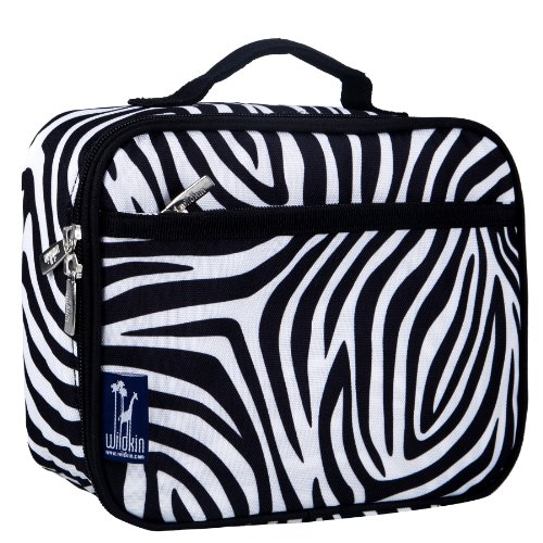 - Lunch Box, Wildkin Lunch Box, Insulated, Moisture Resistant, and Easy to Clean with Helpful Extras for Quick and Simple Organization, Ages 3+, Perfect for Kids or On-The-Go Parents – Zebra