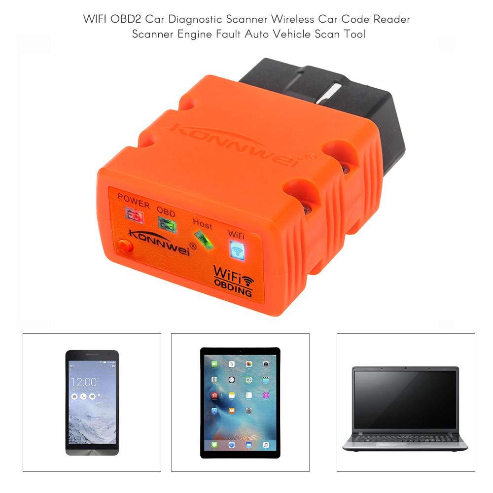 Festnight KONNWEI KW902 OBDII WiFi OBD Scanner Car Code Reader Detector for iOS Android Windows Service