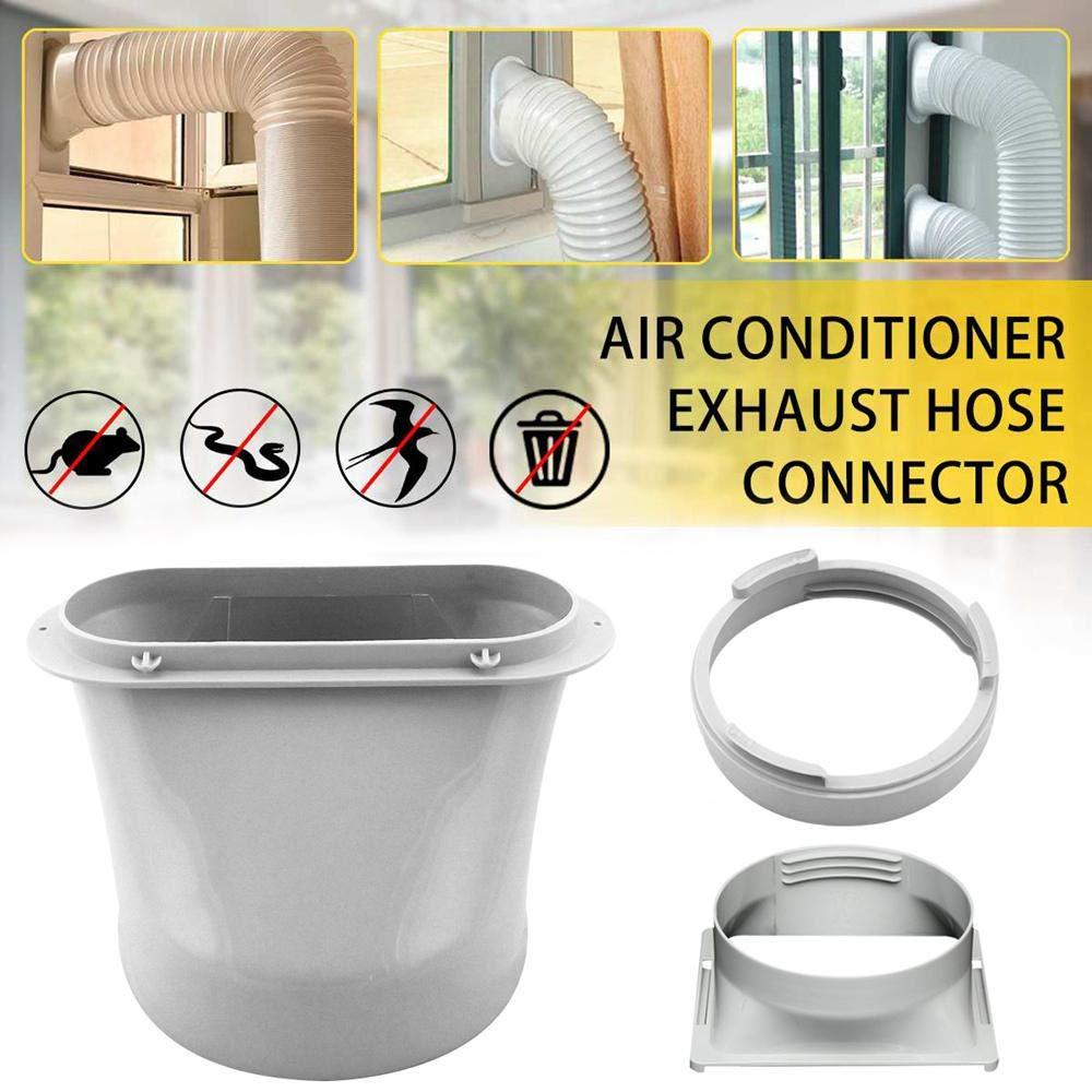 Fonctionne avec Toutes Unit/és de climatisation Mobiles UMIWE Joint de Fen/être pour Climatiseur Portatif et S/èche-Linge Connecteur dextracteur de Tuyau d/échappement Kit 1.9m