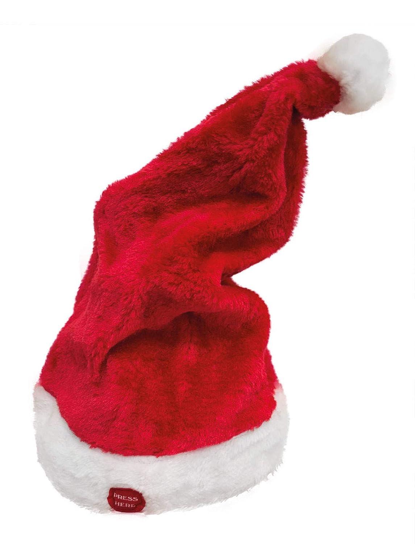 Generique Generique Generique - Weihnachtsmütze mit Melodie und Bewegung rot-Weiss 362c3b