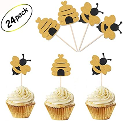 24 Gender Reveal Baby shower cupcake Toppers Great for baby showers!