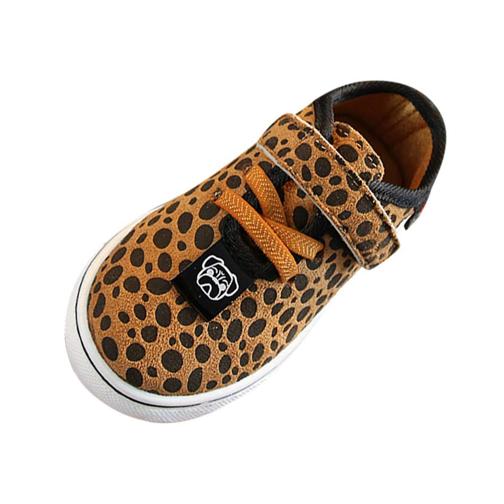 Leopard Print Sneakers Board Shoes for 1-6 Years Little Kids Toddler Baby Boys Girls Anti-slip Rubber Sole Sport Boots