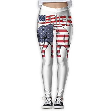 14aa1b34f4c0c4 American Elephant Printing Compression Leggings Pants Tights for Women S-XL  at Amazon Women's Clothing store: