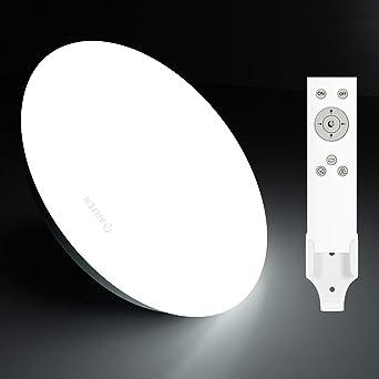 Anten Plafón de techo Regulable, Lámpara LED 24W con mando a distancia, con modo Luz nocturna, apto para Dormitorios, Salones, Cuartos infantiles, ...