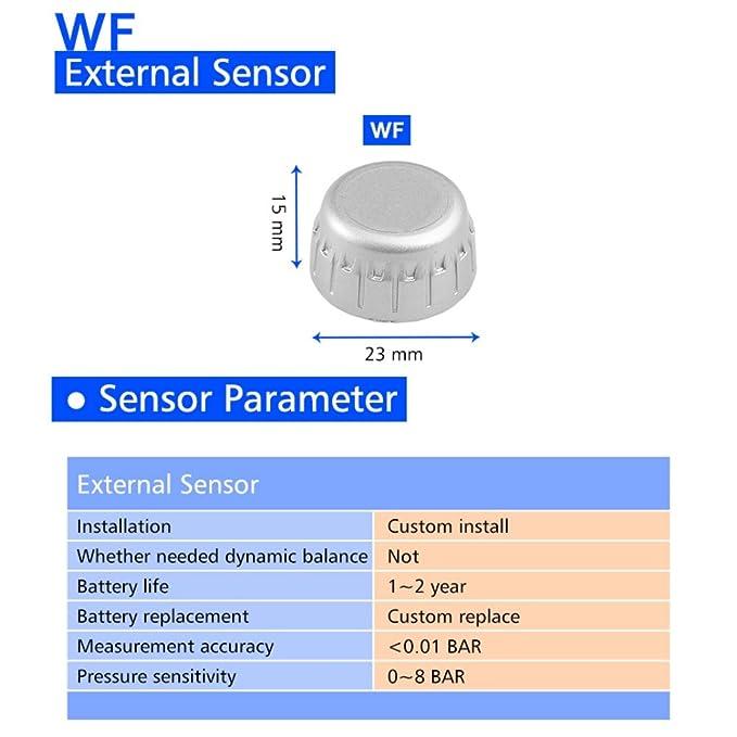 malcam TPMS inalámbrica de energía solar pantalla LED Digital de presión de los neumáticos sistema de vigilancia, monitor de presión de los neumáticos con 4 ...