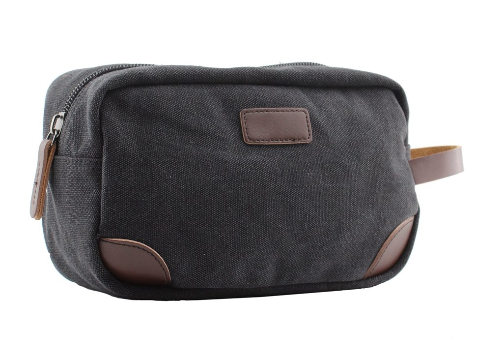 Vintage Canvas Travel Toiletry Organizer Shaving Kit Cosmetic Makeup Bag 9 Inch,170902-02