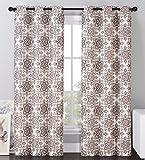 Likimen 2 Blackout Window Curtains Panel Pair Grommet Drape Thermal Brown ...