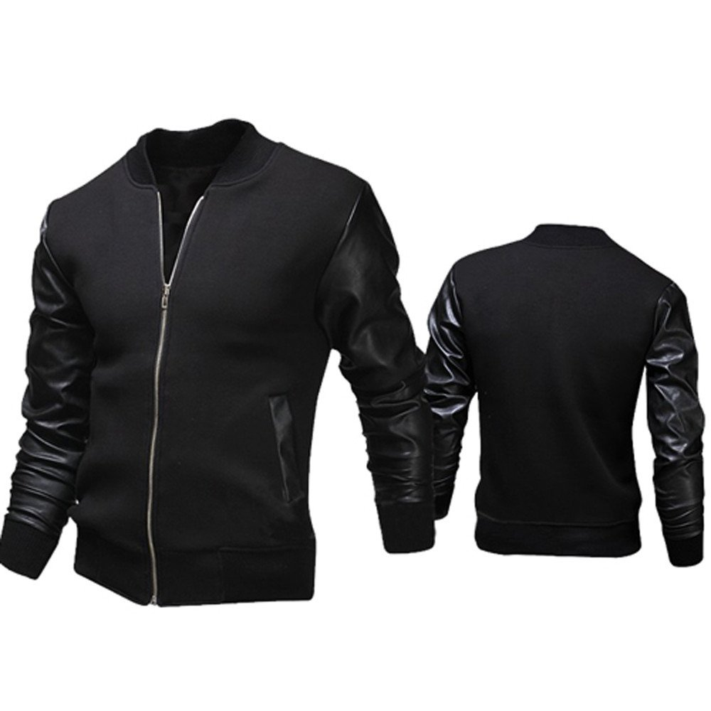 Amazon.com: 2019 😊Men Casual Jackets,Boys Autumn Winter Slim Collar Tops (XL, Black): Electronics