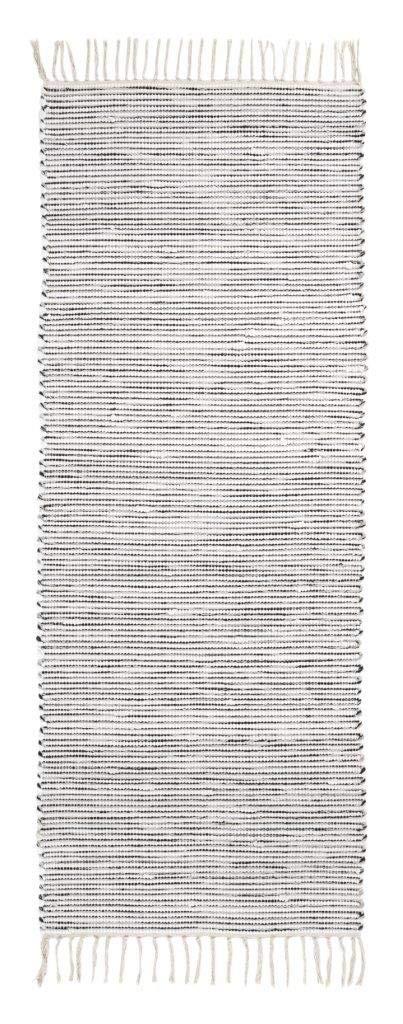 onloom Alfombra Milo Tejida a Mano Farbe:Rayado Negro Blanco Gr/ö/ße:100 x 150 cm 100/% algod/ón Lavable a 30/°C