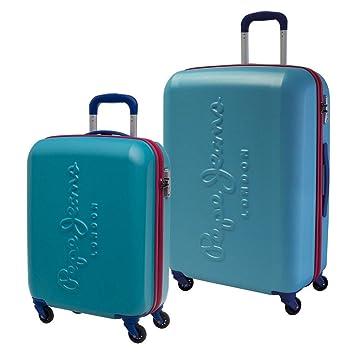Pepe Jeans 7498954 Tricolor Juego de Maletas, 88.83 litros, Color Azul: Amazon.es: Equipaje