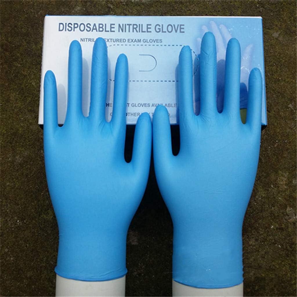 Powder Free Medical Disposable Gloves Rubber Work Gloves for Cleaning,Exam Gloves 007# S Sagton 50 Pairs Industrial Disposable Nitrile Gloves Sanitary Latex Free Mechanic Tasks