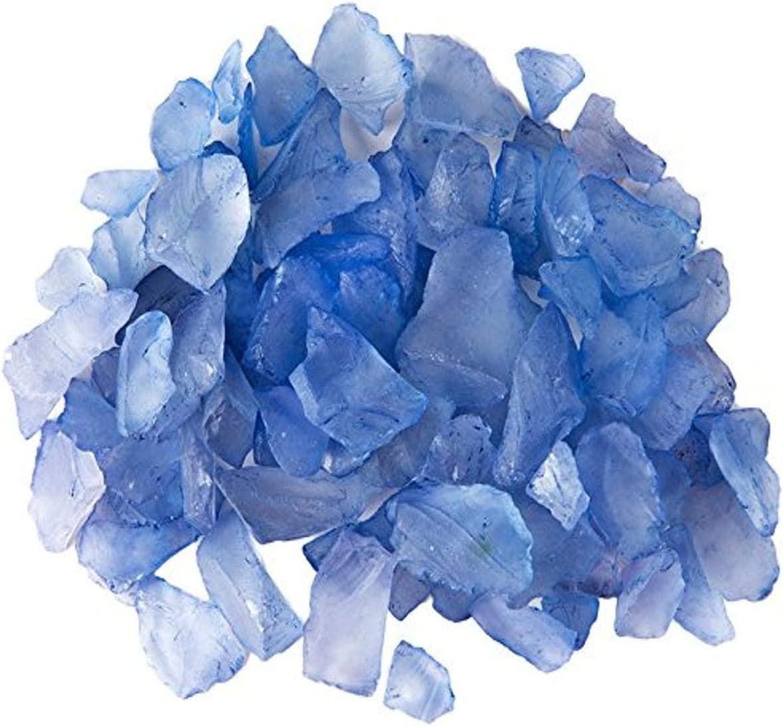 Galapagos 05131 Sea Glass for Aquarium, 4 lb, Deep Sea Blue