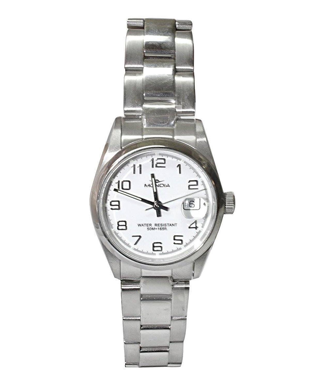 MONDIA Uhr in Stahl und Zifferblatt Analog