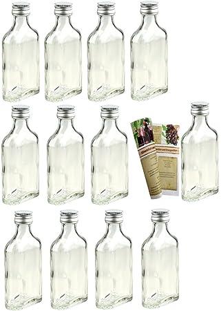 """20 Mini Botellas de cristal vacías""""Petaca 40 ml botellas de vidrio botellas pequeñas"""