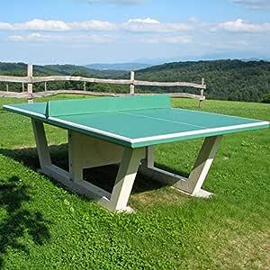 Le Capucin – Mesa Ping Pong Todo hormigón Armado Bandeja Verde ...