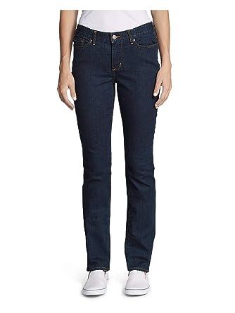 22bb2d7d7e3 Eddie Bauer Women s StayShape Straight Leg Jeans - Curvy at Amazon ...