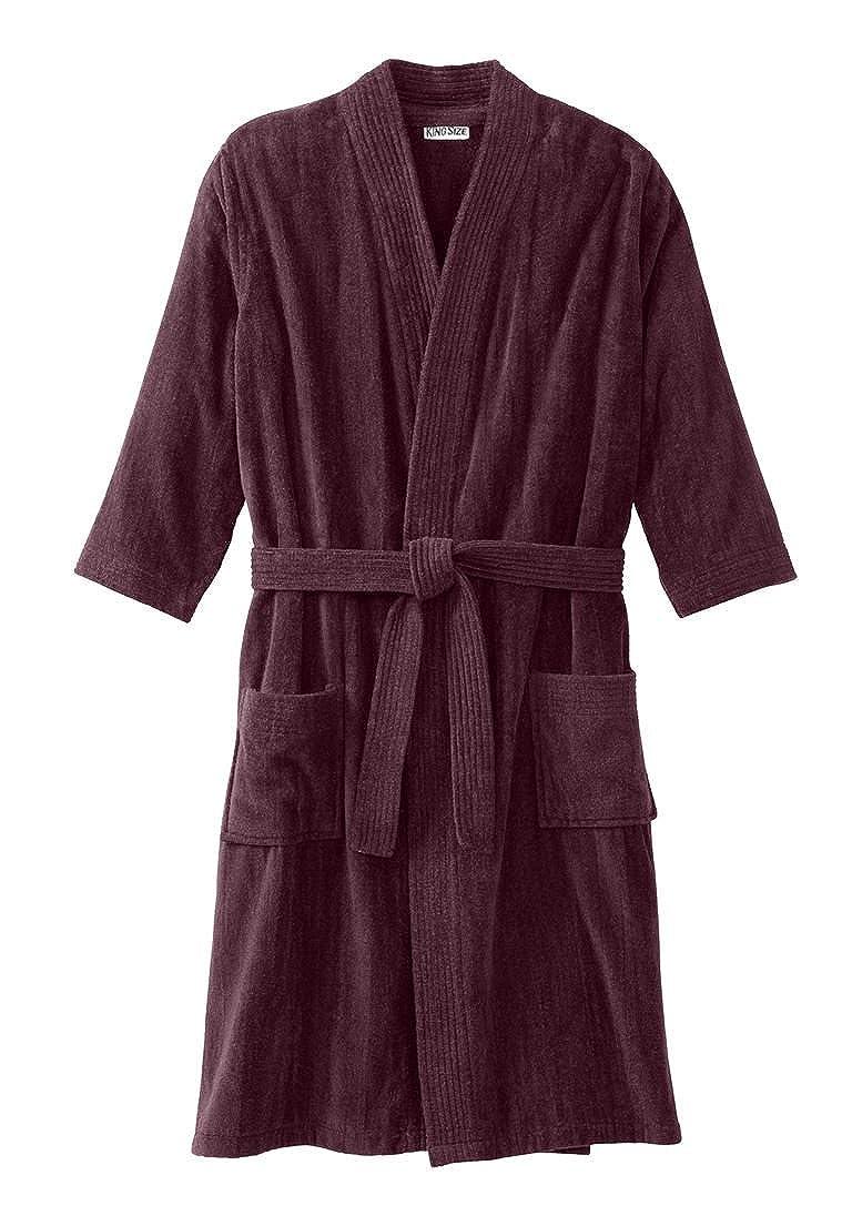KingSize Mens Big /& Tall Terry Velour Kimono Robe