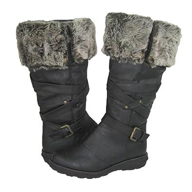 Amazon.com | Comfy Moda Women's Winter Snow Boots Jessica (Wide ...