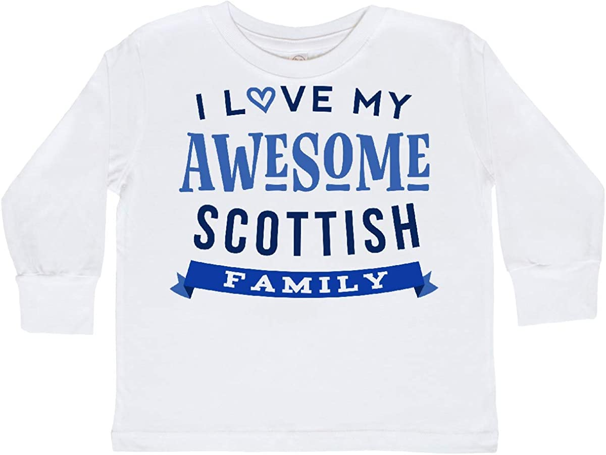 inktastic Scotland Awesome Scottish Family Toddler Long Sleeve T-Shirt