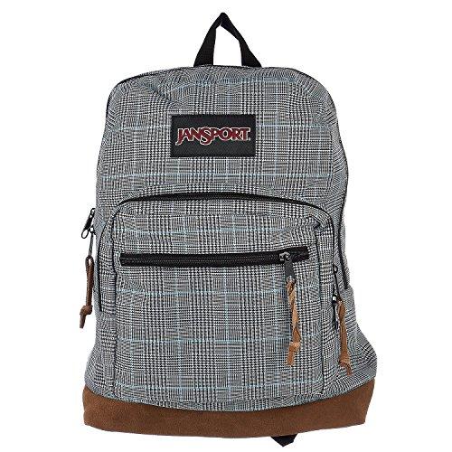 JanSport Unisex Right Pack Digital Edition Black/White Suited Plaid (Jansport Plaid Backpack)
