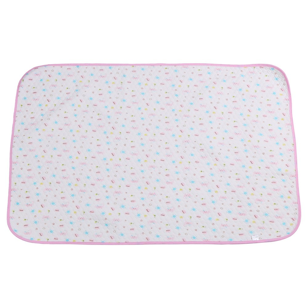 Washable Reusable Waterproof Baby Diaper, Cotton Changing Pad Infant Newborn Breathable Urinal Mat Diaper Cotton Clothes Cover(Blue) Fdit