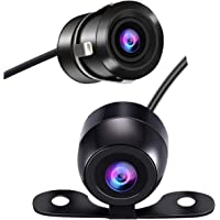 Backup Camera for Car, Casoda Wide View Angle 2-in-1 Universal Car Front Side Rear View Camera,2 Installation Options Removable Guildlines,Mirror Non-Mirror Image,12V Only