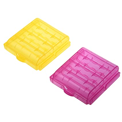 SODIAL(R) 2X Caja Plastico Estuches pa AA/AAA Bateria Pila Nueva
