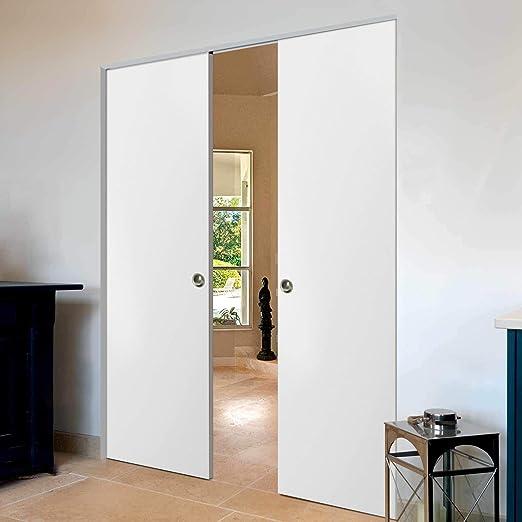 Sliding Double Pocket Door 60 x 80 inches   Planum 0010 ...