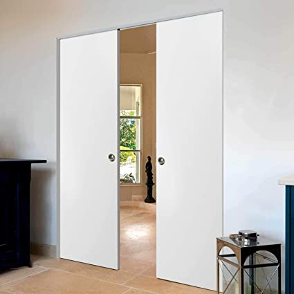 Sliding Double Pocket Door 60 x 80 inches | Planum 0010 ...