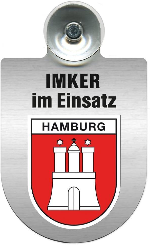 Regionenwappen nach Wahl Farbe Region Freistaat Sachsen Einsatzschild mit Saugnapf Imker im Einsatz 309382 incl