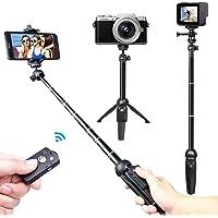 Venfoto 39.4 in Extendable Selfie Stick Tripod Compatible iPhone/Samsung/ GoPro