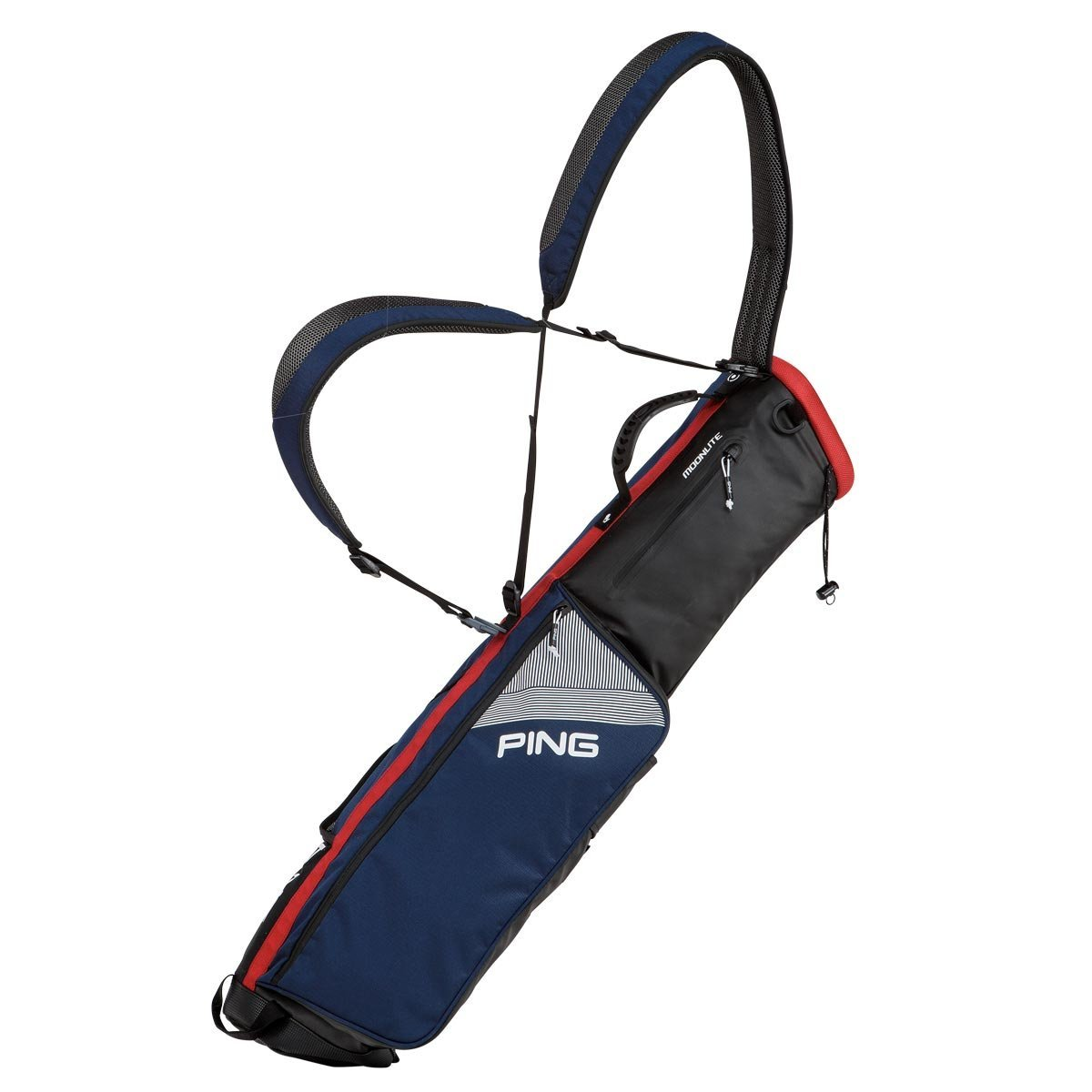 Ping 2018 MOONLITE 181 CARRY GOLF BAG 04 NAVY/RED/WHITE