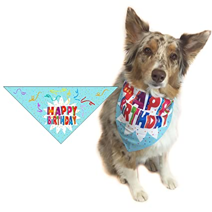 Stonehouse Collection Happy Birthday Dog Bandana