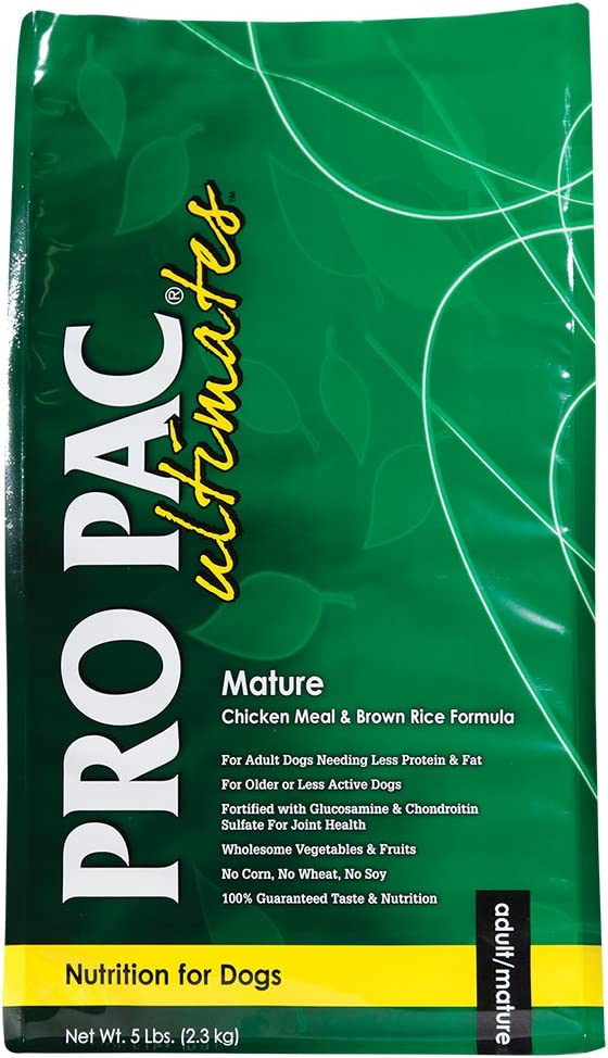 Pro Pac Ultimates Mature Chicken Meal And Brown Rice Dry Dog Food, 5 Lb.