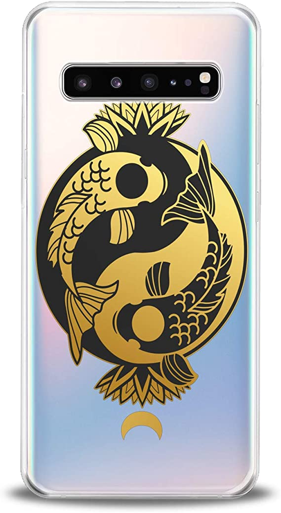 Yin Yang Dragons Red and Black Samsung S10 Case