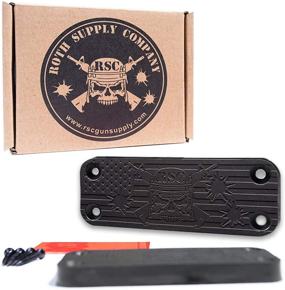 Roth Supply Company RSC Magnetic Gun Mount (43lbs Capacity) Gun Magnet for Your Car Or Home, Handguns, Pistols, Firearms, Shotguns, Rifles & More   Concealed Holder for Truck, Wall, Desk, Vault