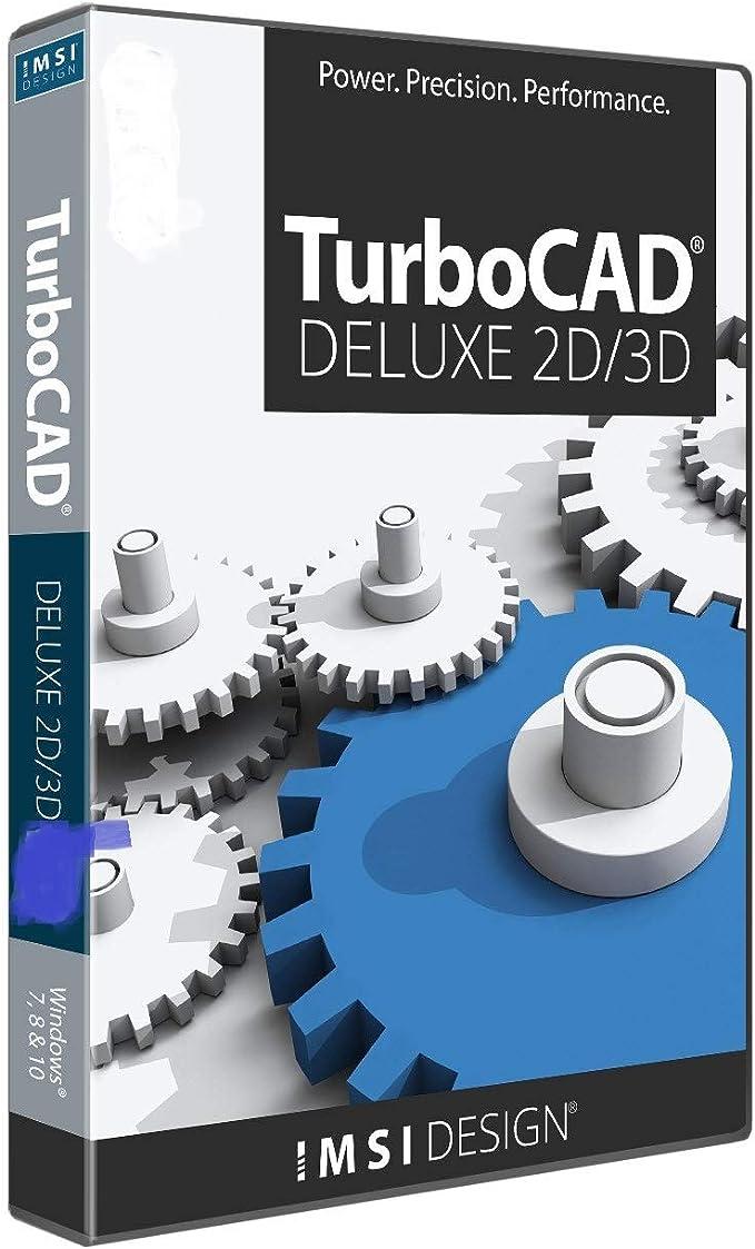 Amazon Com Turbocad Deluxe 2019 2d Design 3d Modeling Cad Software For Windows