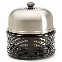 Pro Holzkohlegrill Cobb Edelstahl klein silber Balkon Camping Picknick ✔ Deckel ✔ rund ✔ tragbar ✔ Grillen mit Holzkohle ✔ für den Tisch