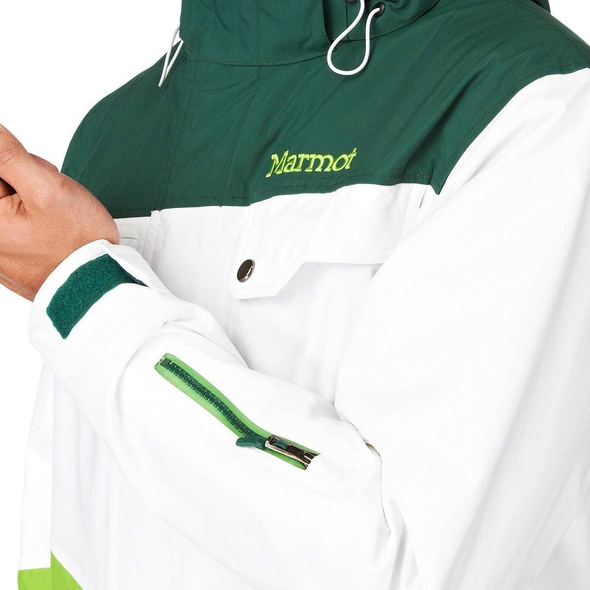 Marmot Mens Space Walk Jacket Medium Gaor//White//Green Envy
