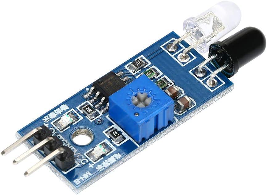 Baugger 5pcs IR Infrared Obstacle Avoidance Module Board for Arduino Smart Car Robot Sensor Module
