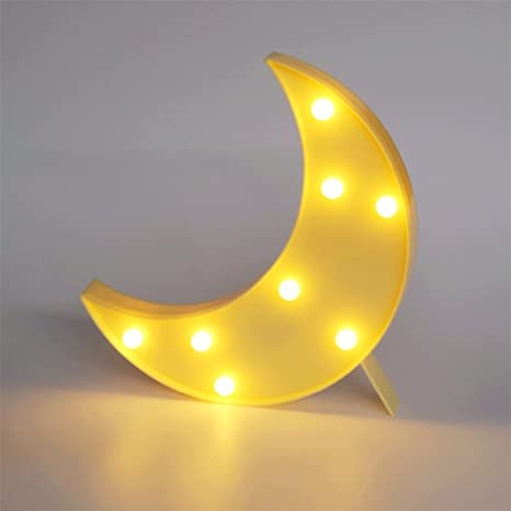 Superbe Cloud Led Table Lamp Star Moon Lamps Romantic 3D Wall Lamp Marquee Sign  Moom Yellow 0
