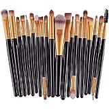 NEJLSD Eye Makeup Brushes Set 20, Eyeliner Eyeshadow Blending Brush, Wool Make Up Brush Set,Powder Face Foundation Eyeshadow Eyeliner Lip Cosmetic Brushes