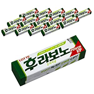 Lotte Flavono Original Chewing Gum | 26g | Pack of 12, Korean Candy, Chewing Gum Contains Korean Green Tea, Power Up, Fresh Flavor, ????