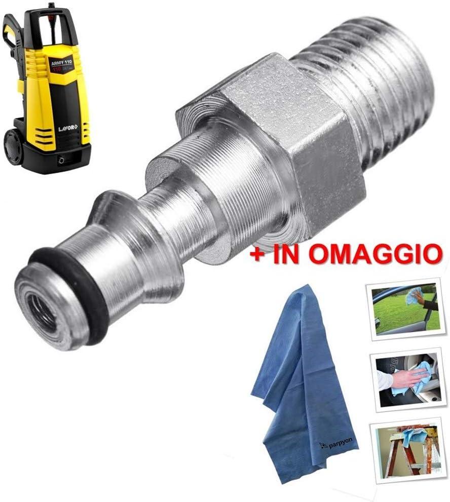 pa/ño Profesional Parpyon Lavor Conector Adaptador de Manguera para Pistola limpiadora a presi/ón de Agua fr/ía con Enganche r/ápido