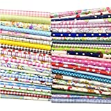 "Quilting Fabric, Misscrafts 50pcs 12"" x 12"" (30cm x 30cm) Cotton Craft Fabric Bundle Patchwork Pre-Cut Quilt Squares for DIY Sewing Scrapbooking Quilting Dot Pattern"
