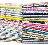 "Arts & Crafts : Quilting Fabric, Misscrafts 50pcs 12"" x 12"" (30cm x 30cm) Cotton Craft Fabric Bundle Patchwork Pre-Cut Quilt Squares for DIY Sewing Scrapbooking Quilting Dot Pattern"